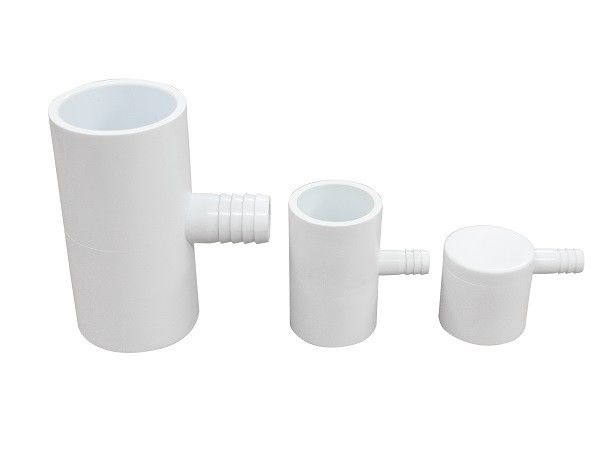 "Spa Plastic Adapter 90 Degree PVC Tee Fittings 1"" S x 3/8"" Ribbed Barb Ell Adapter"